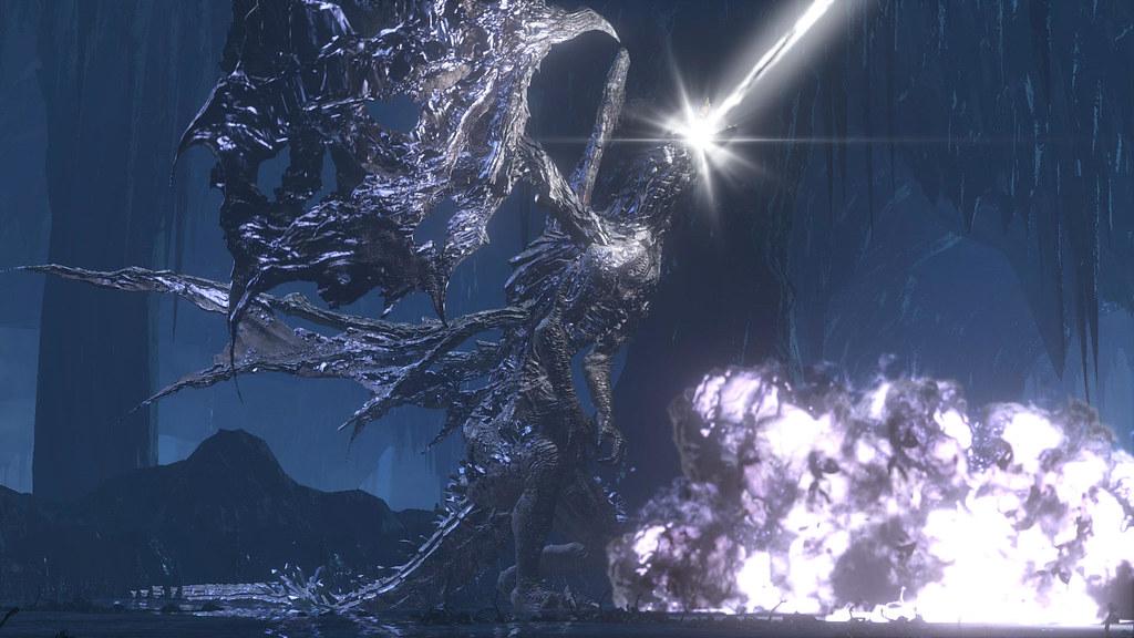 ダークソウルのボスである闇喰らいのミディール