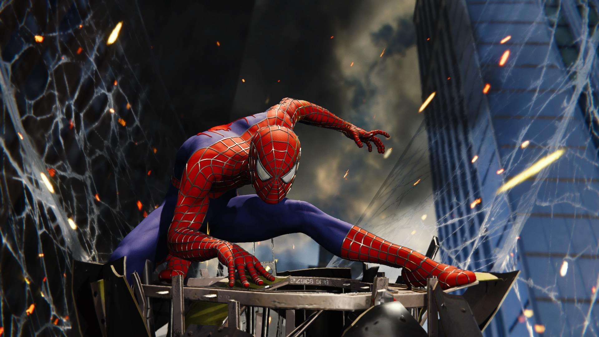 サムライミ版スパイダーマンのスーツ
