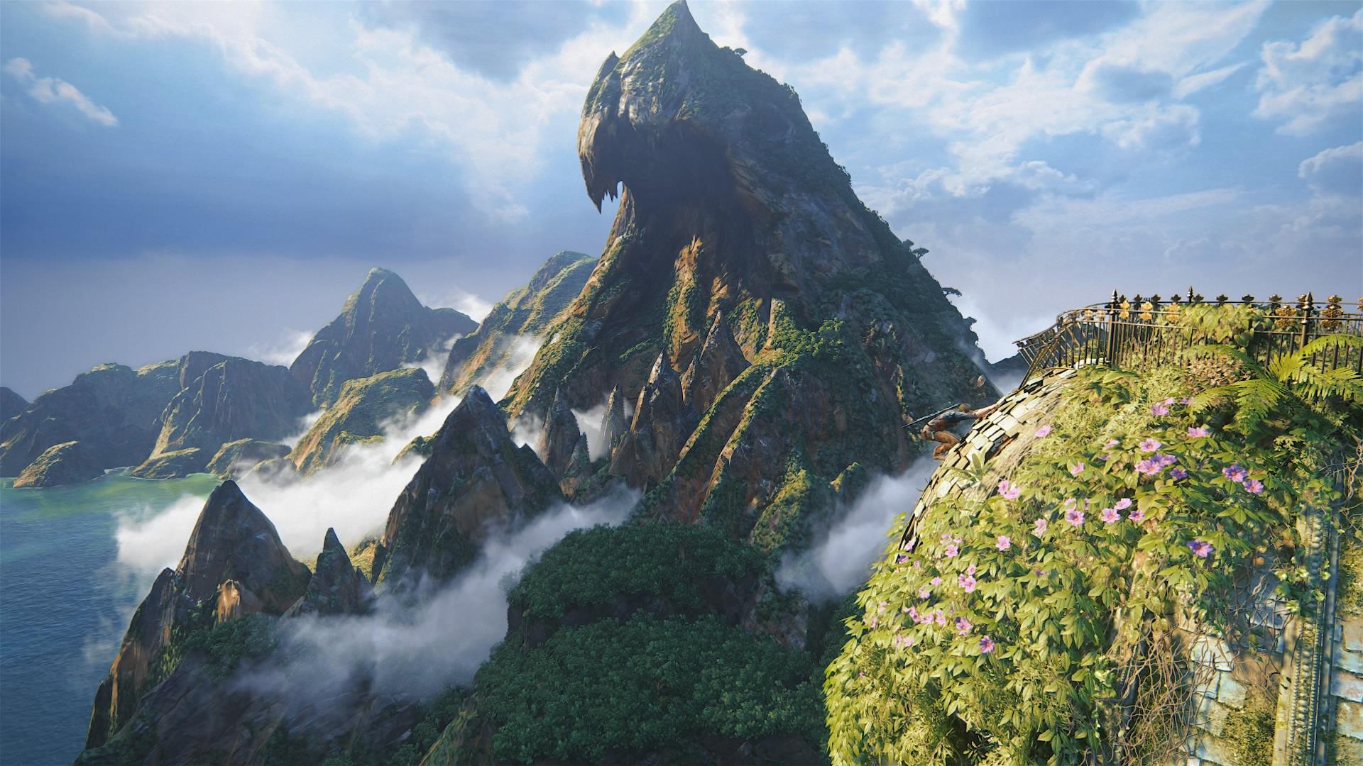 アンチャーテッド4に登場する幻想的な山