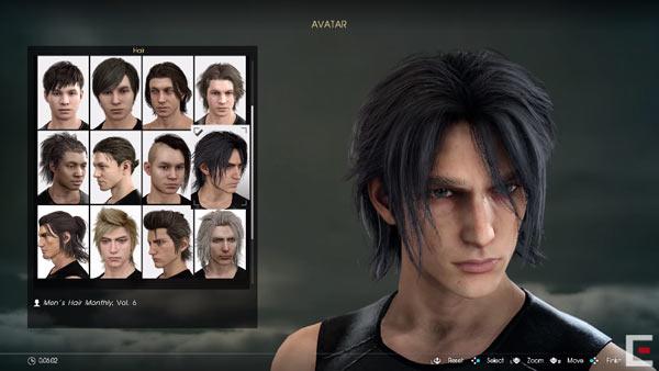 キャラクターの髪形