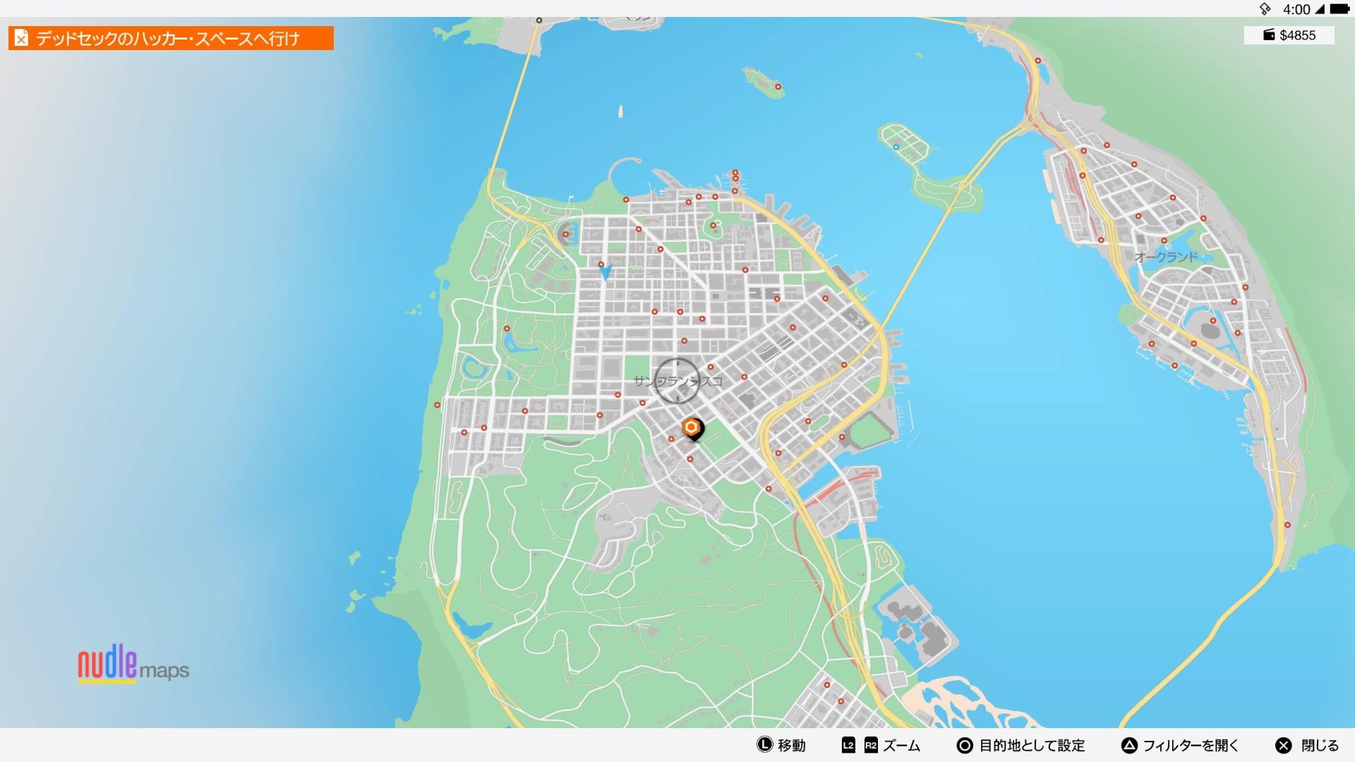 サンフランシスコのマップの一部